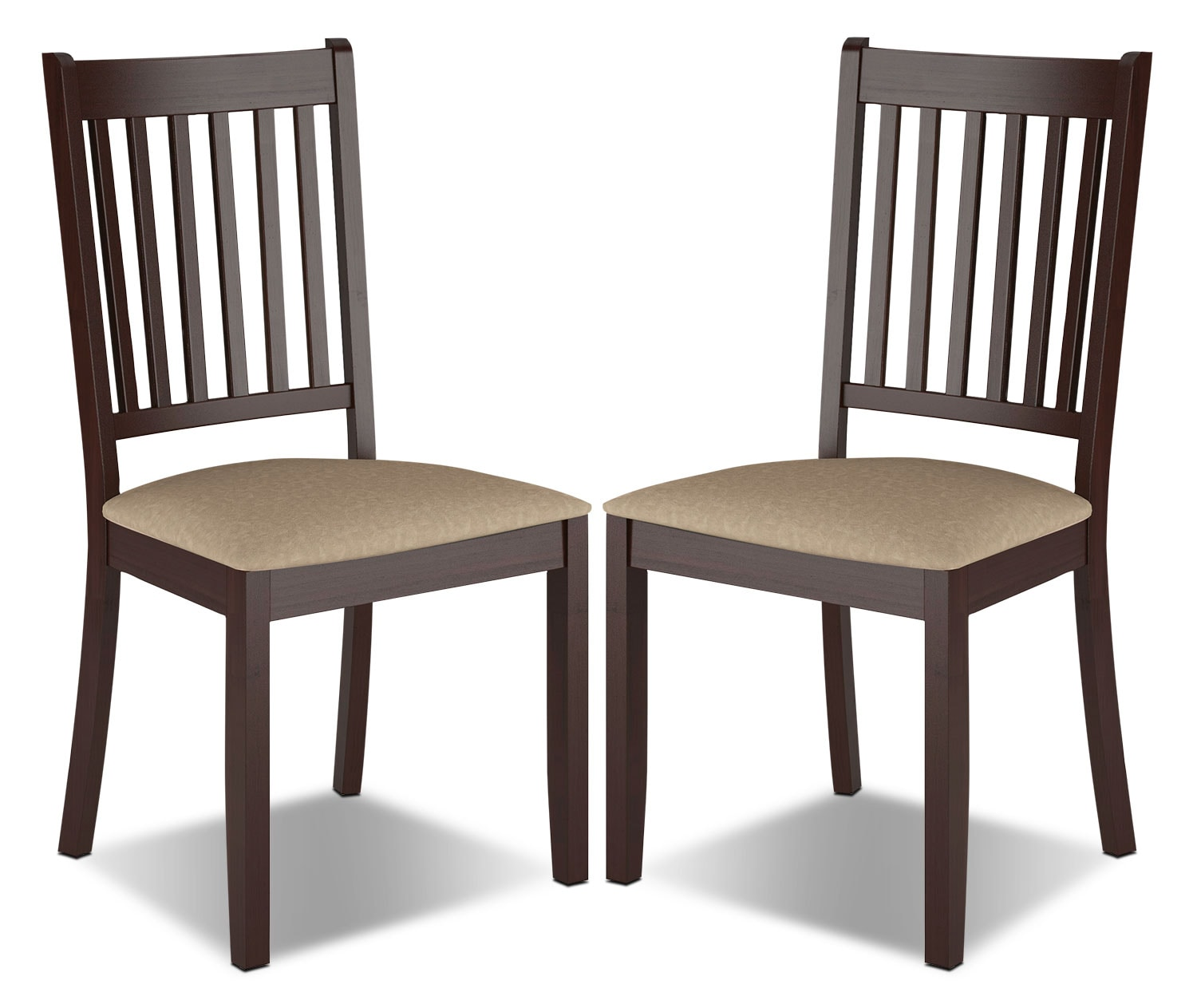 Atwood Dining Chair with Microfibre Seat, Set of 2 – Beige