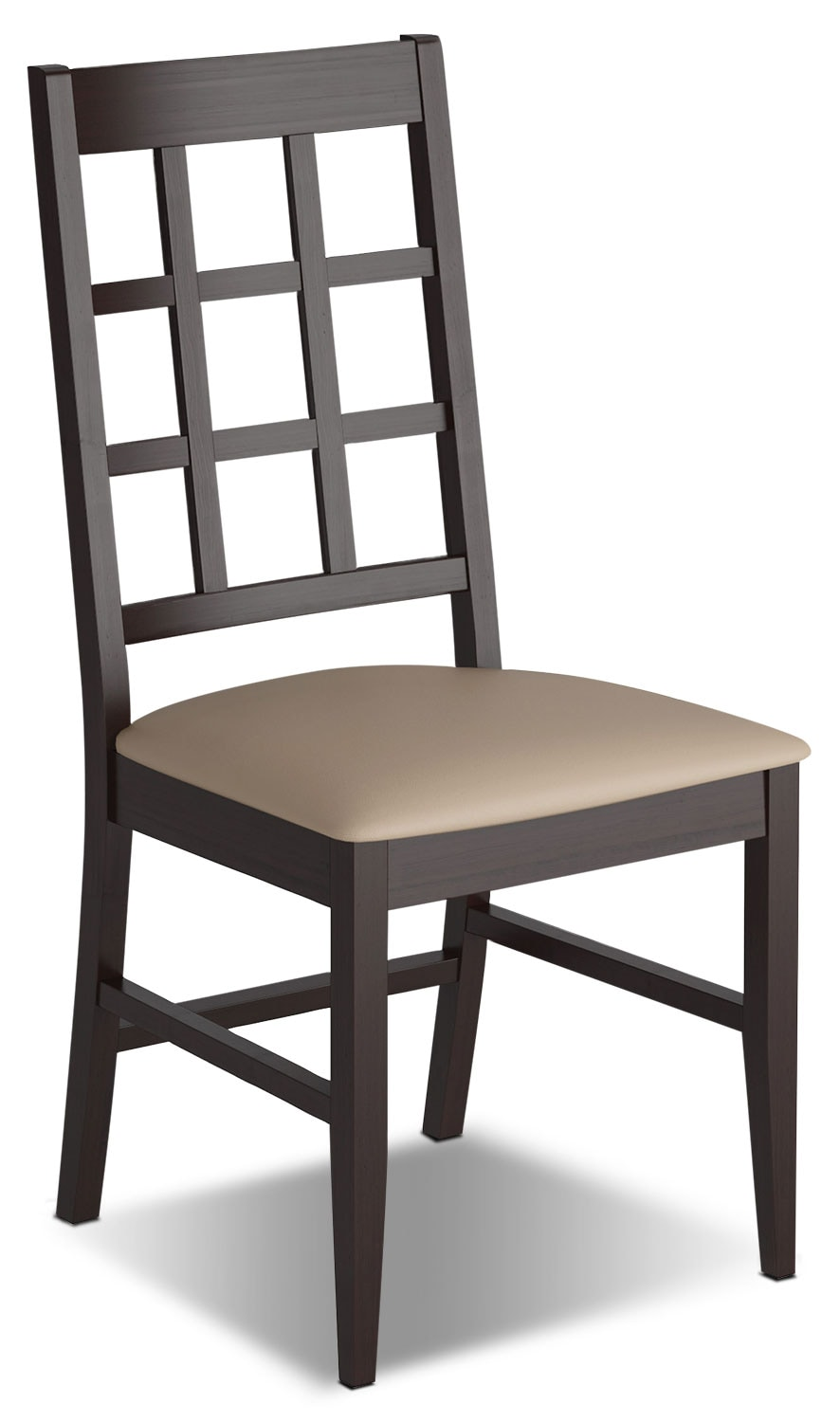 Dining Room Furniture - Atwood Dining Chair with Faux Leather Seat - Grey