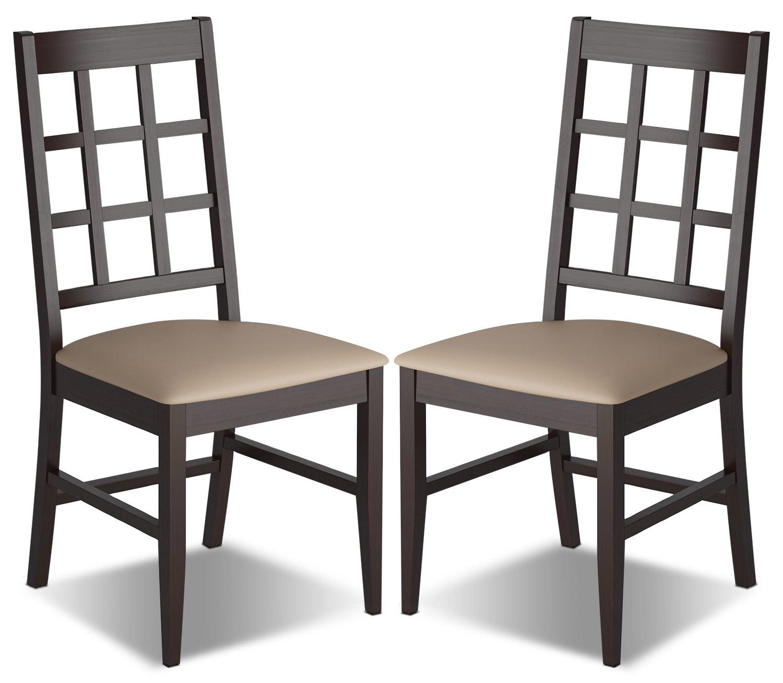 Chaise de salle manger atwood avec si ge en similicuir for Siege salle a manger