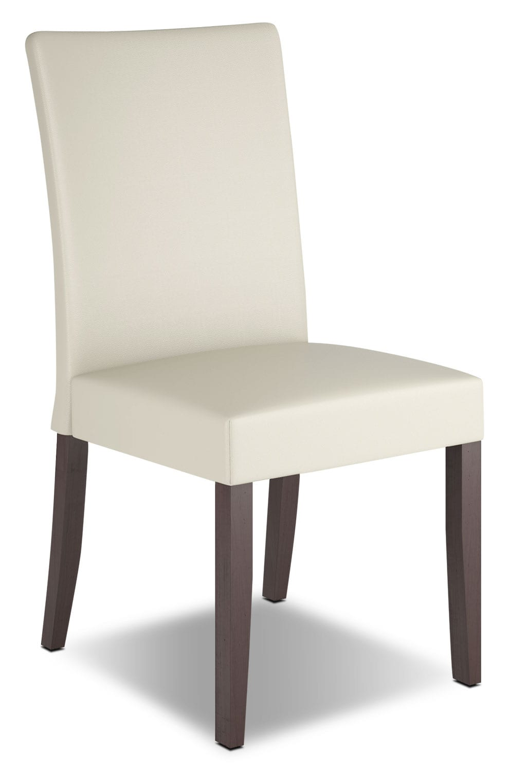 Atwood faux leather dining chair cream the brick
