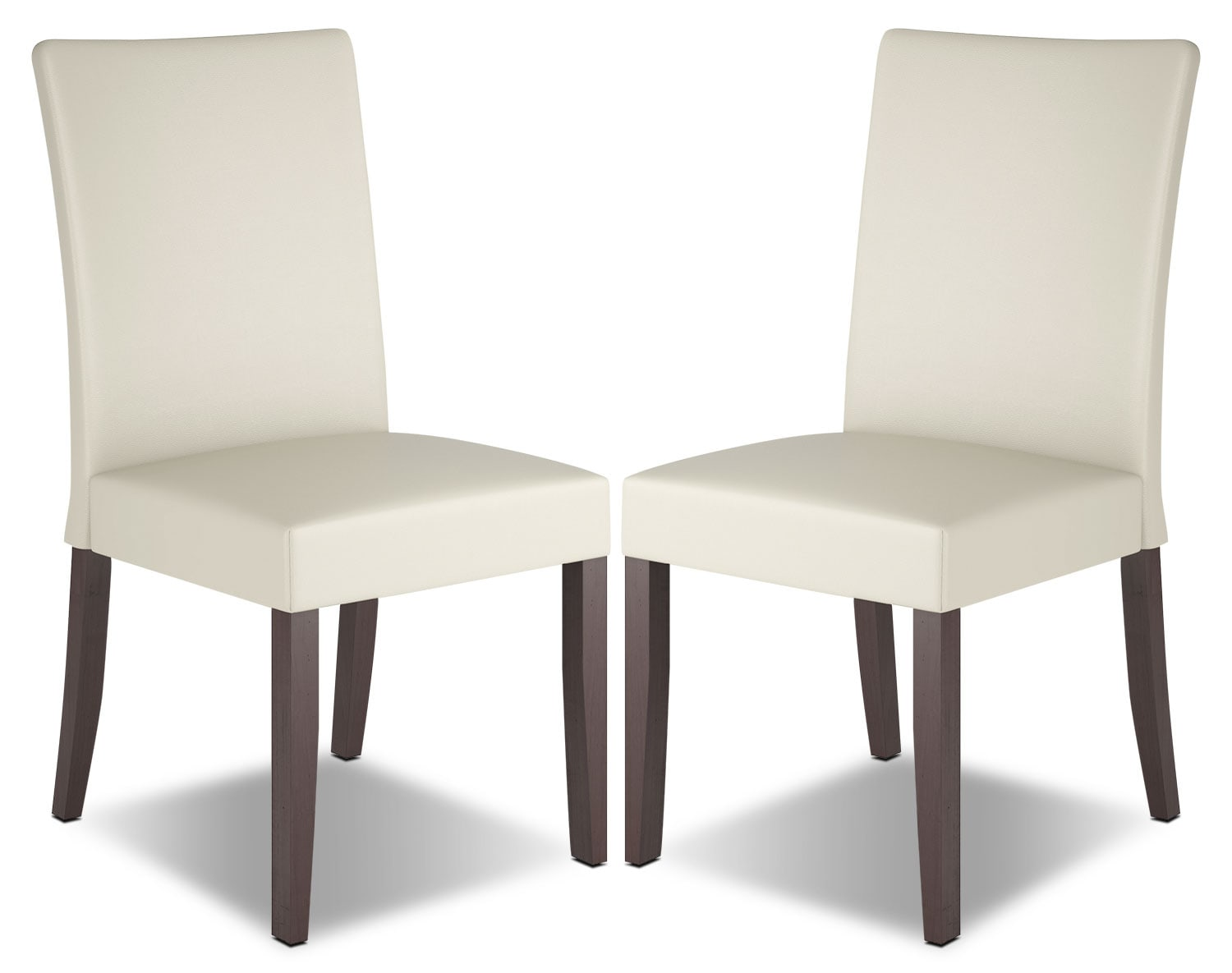room furniture atwood faux leather dining chair set of 2 cream