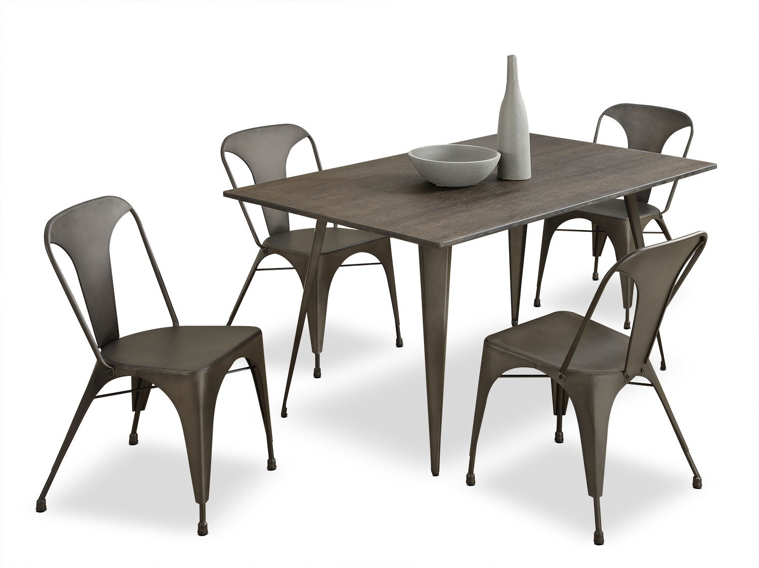 Dining Room Furniture - Monarch 5-Piece Café Dining Package
