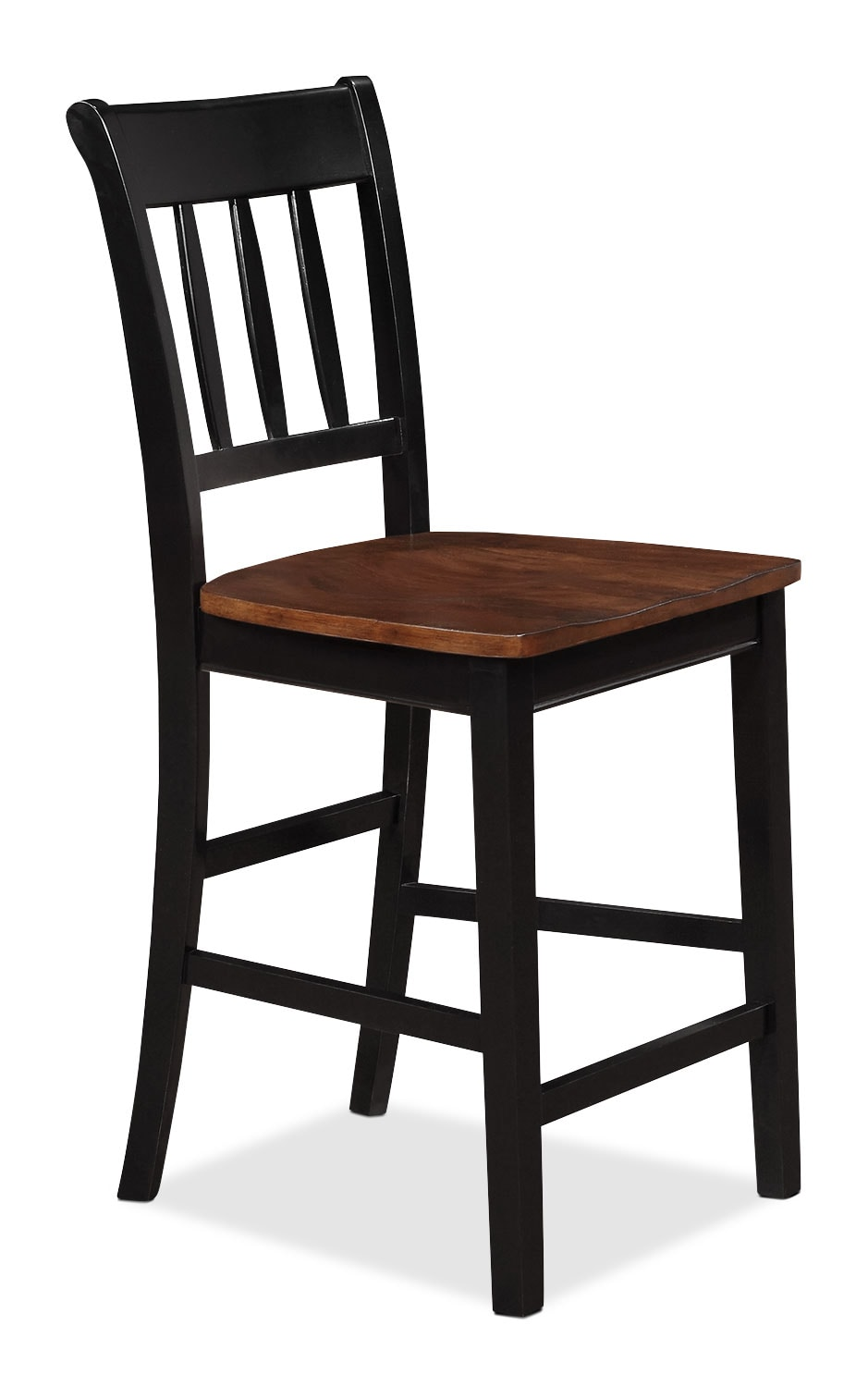 Nyla Counter-Height Dining Chair – Black and Cherry