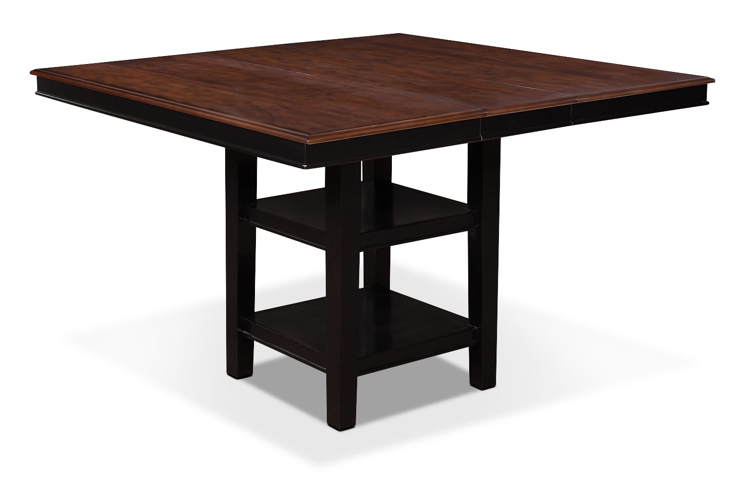 Nyla counter height dining table black and cherry for Counter height dining table