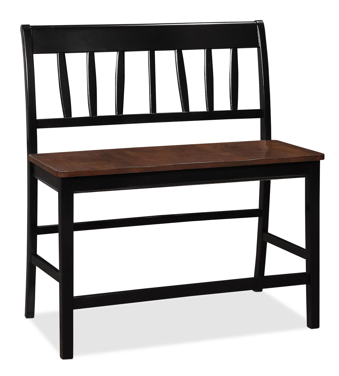 Nyla Counter-Height Dining Bench – Black and Cherry