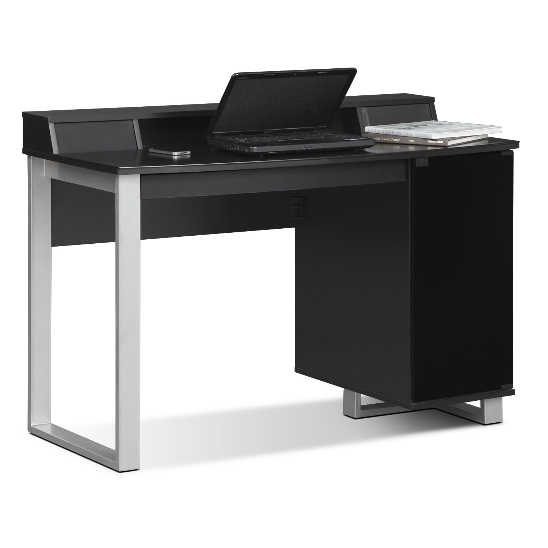 Pacer desk with sound black value city furniture - Value city office desk ...