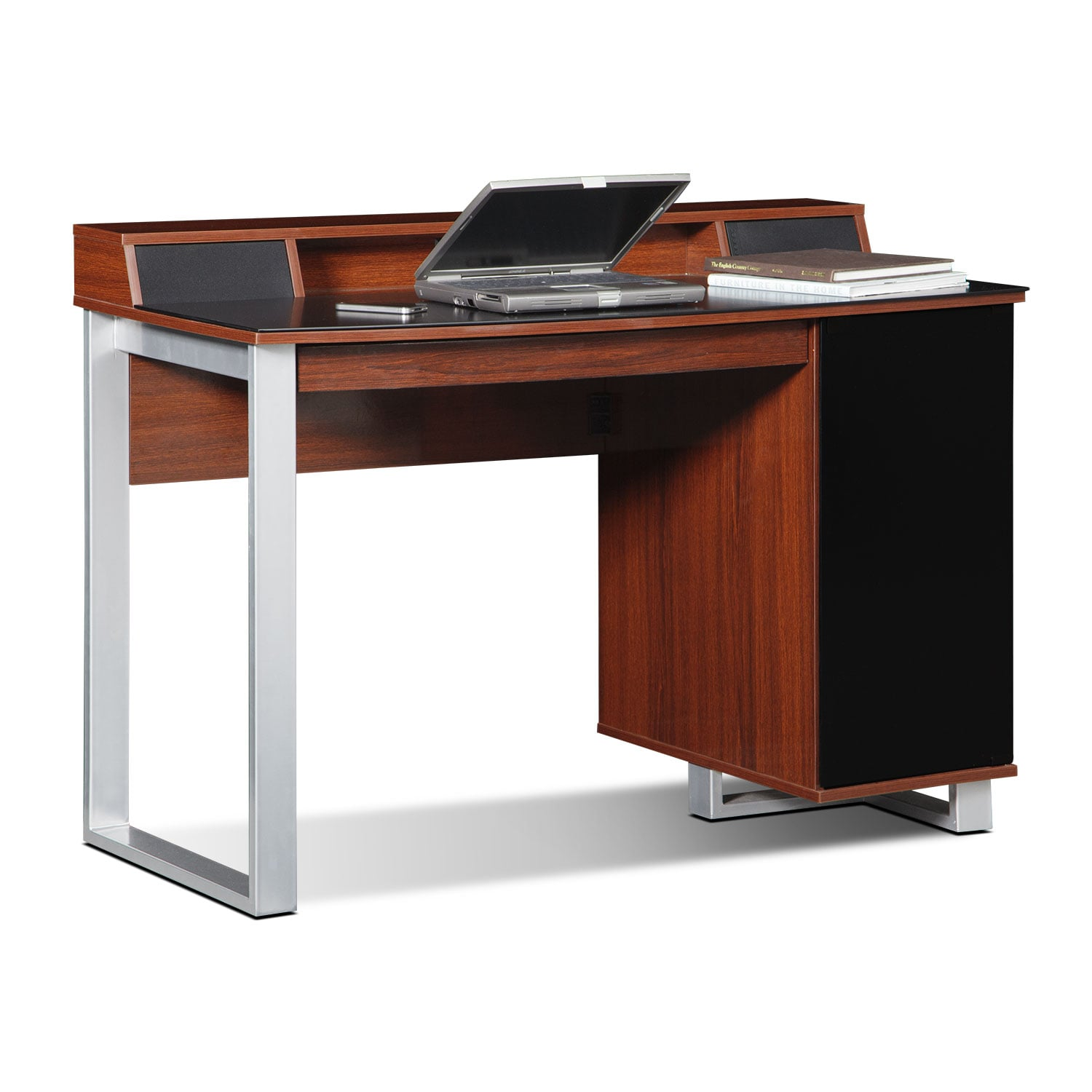 Office Furniture: Pacer Home Office Desk With Sound - Cherry