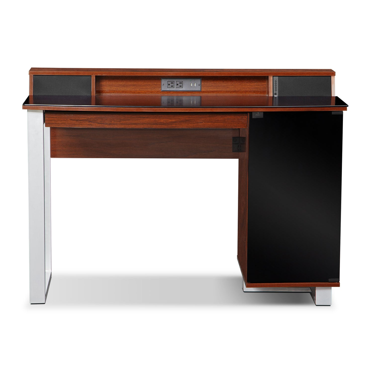 Pacer desk with sound cherry value city furniture - Value city office desk ...