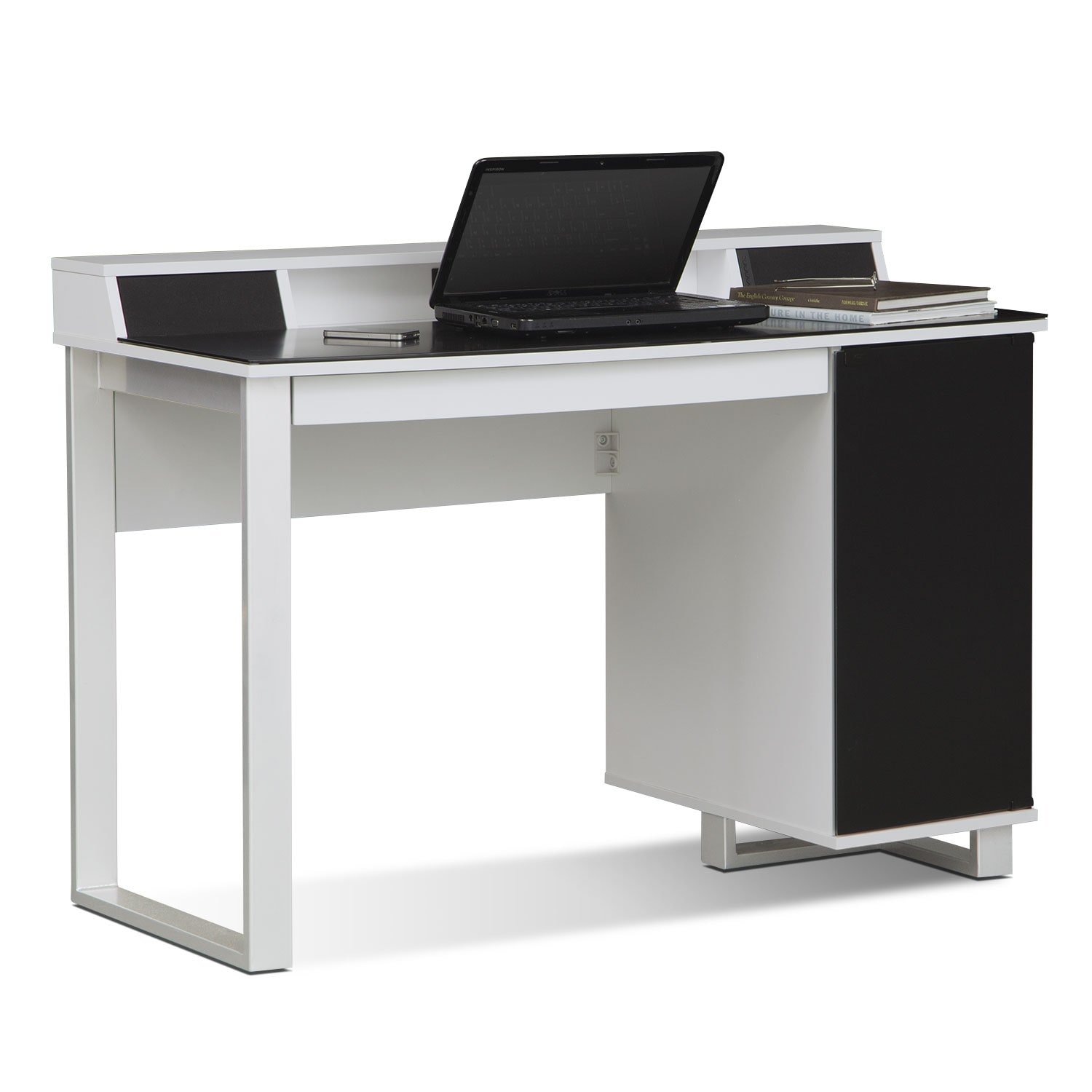 Hom Office Furniture: Pacer Home Office Desk With Sound - White