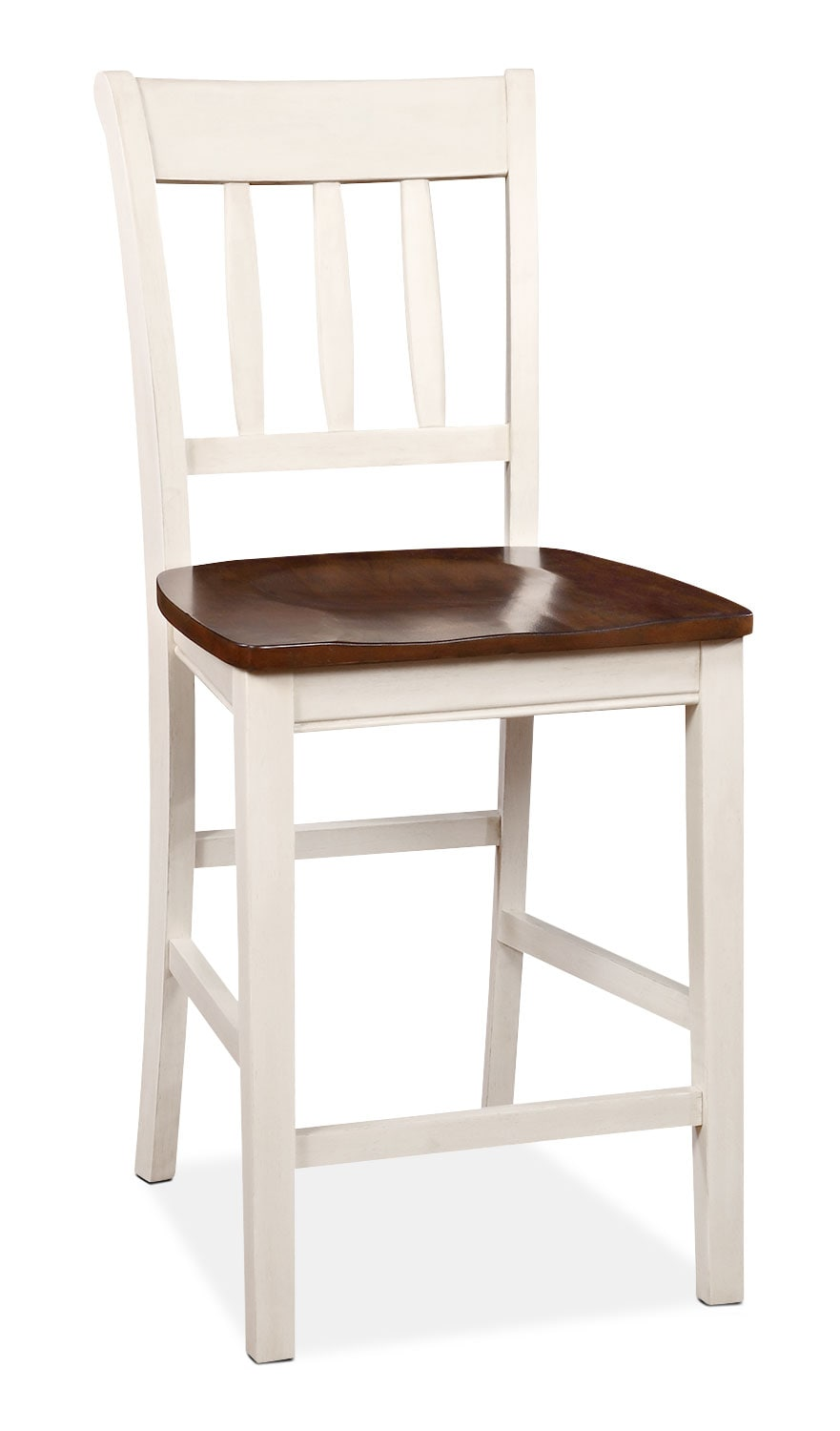 Nyla Counter-Height Dining Chair – Antique White and Cherry
