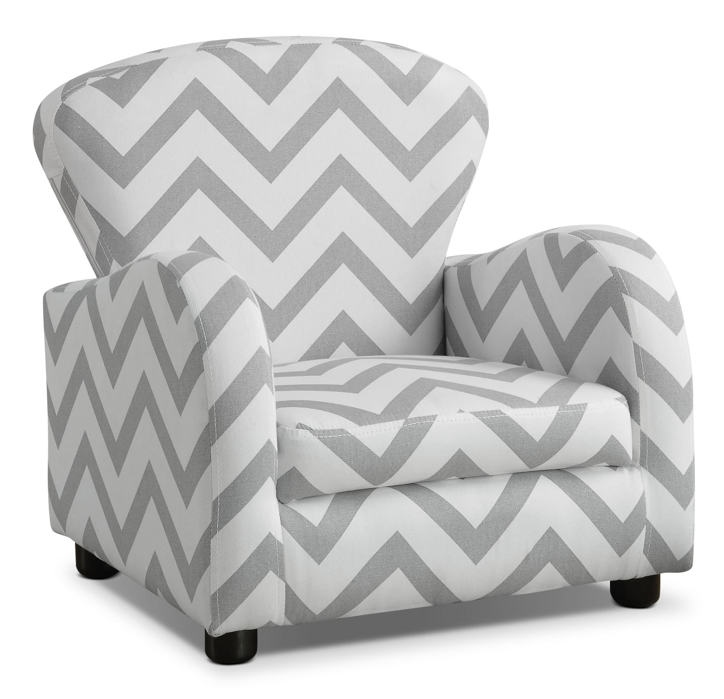 Kids Furniture - Monarch Children's Armchair – Grey Stripe