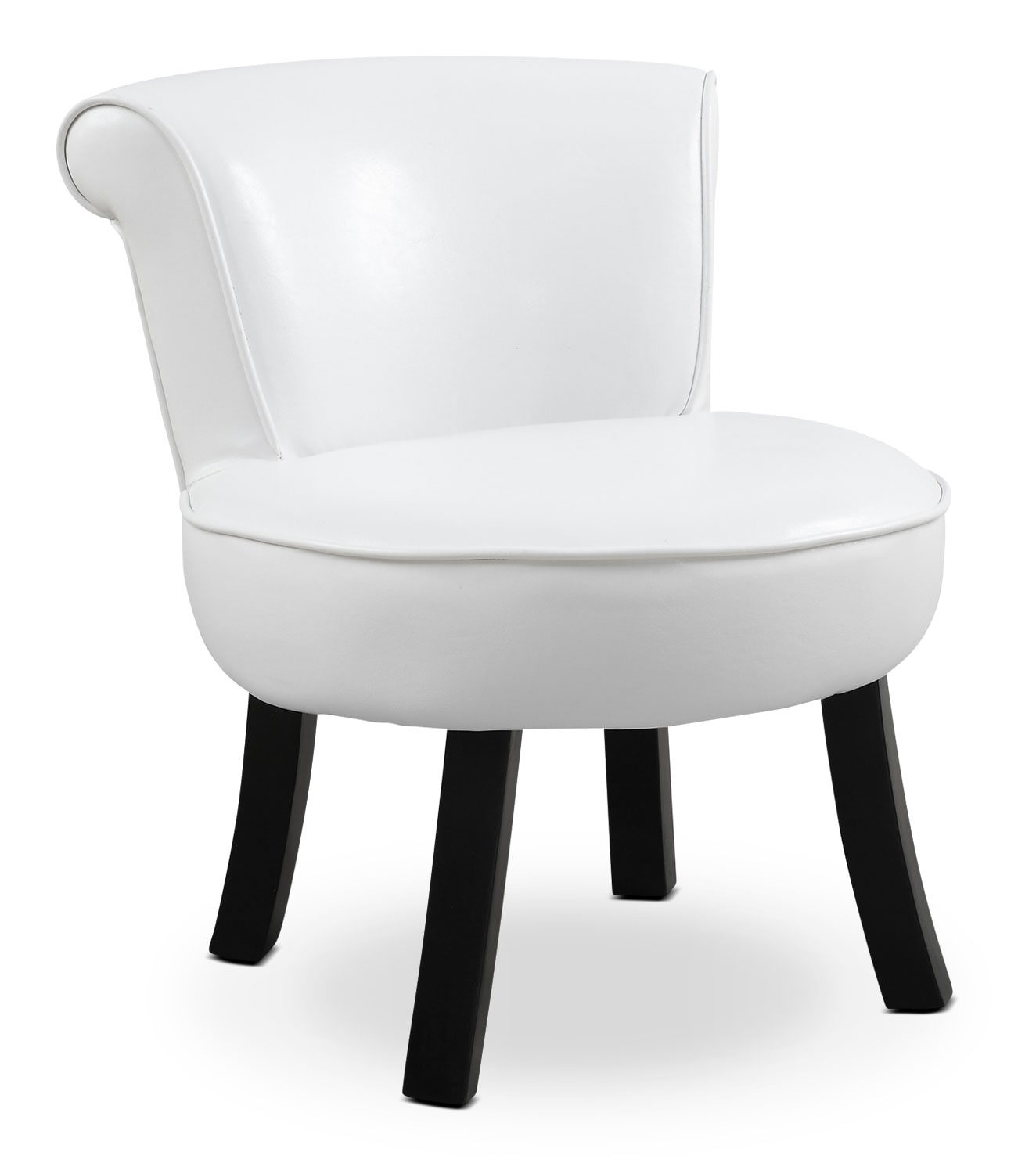 Monarch Children's Accent Chair – White