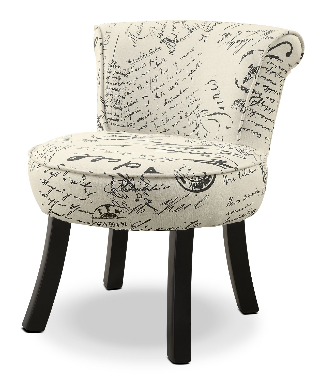 French Country Script Chairs ~ Monarch children s accent chair french script the brick