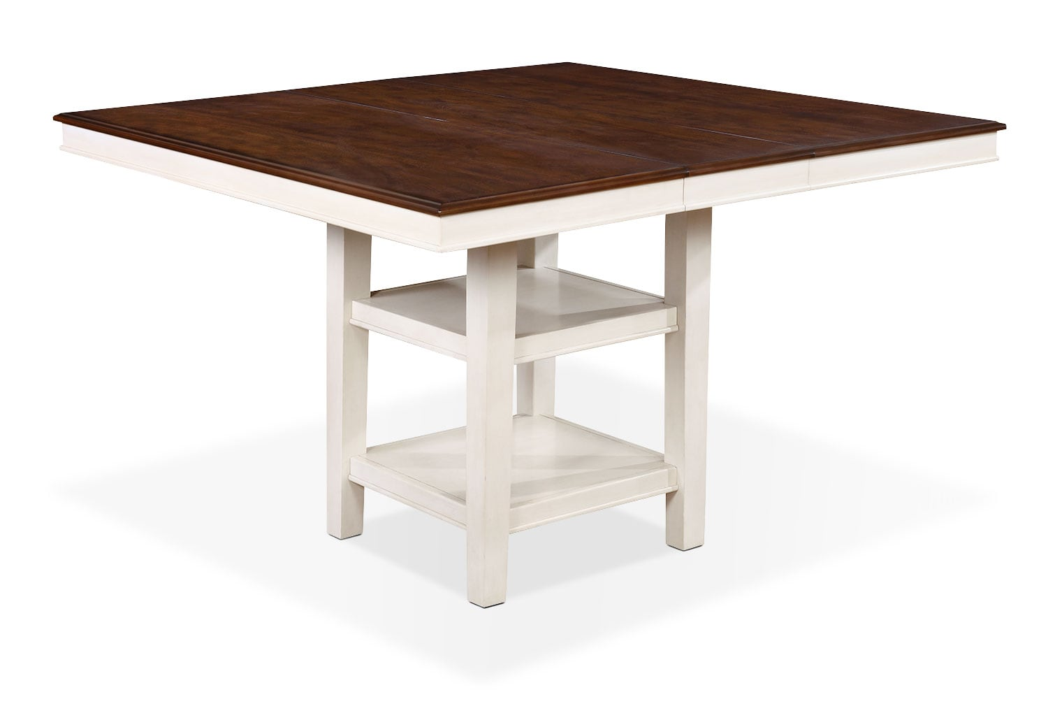 Dining Room Furniture - Nyla Counter-Height Dining Table – Antique White and Cherry