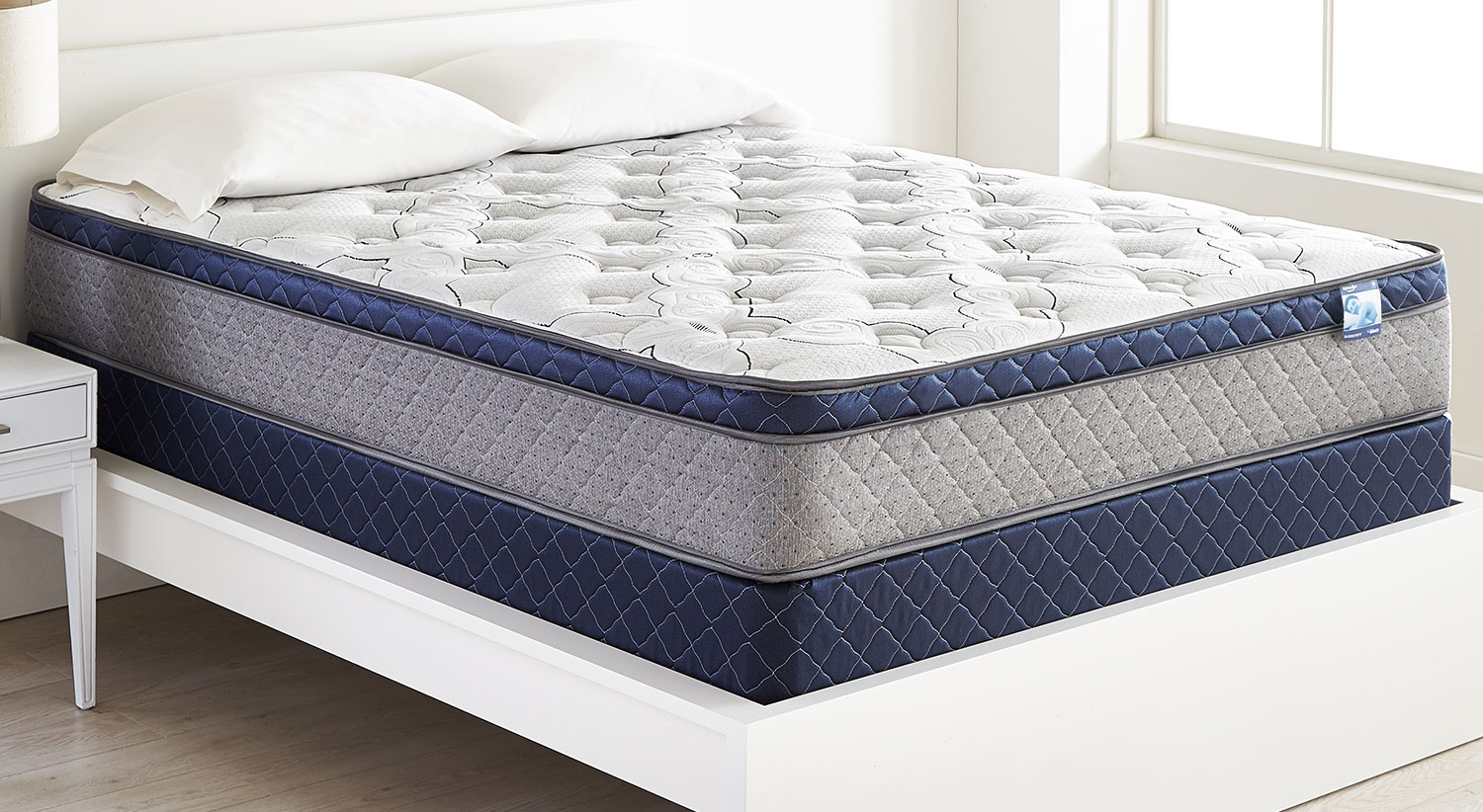 Mattresses and Bedding - Springwall Burberry Euro-Top Firm Queen Mattress Set