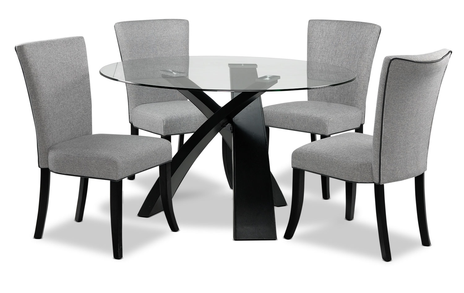 Casual Dining Room Furniture - Astro 5-Piece Dinette Set - Grey