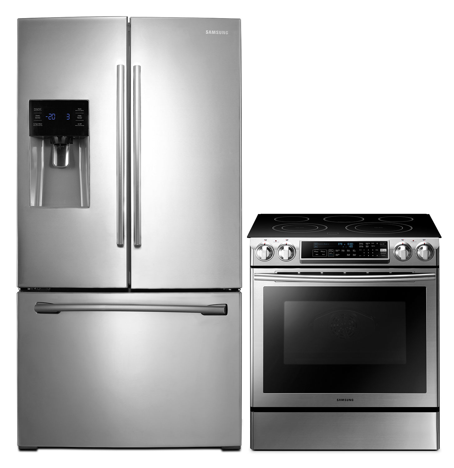 Cooking Products - Samsung 26 Cu. Ft. French-Door Refrigerator and 5.8 Cu. Ft. Electric Range – Stainless Steel