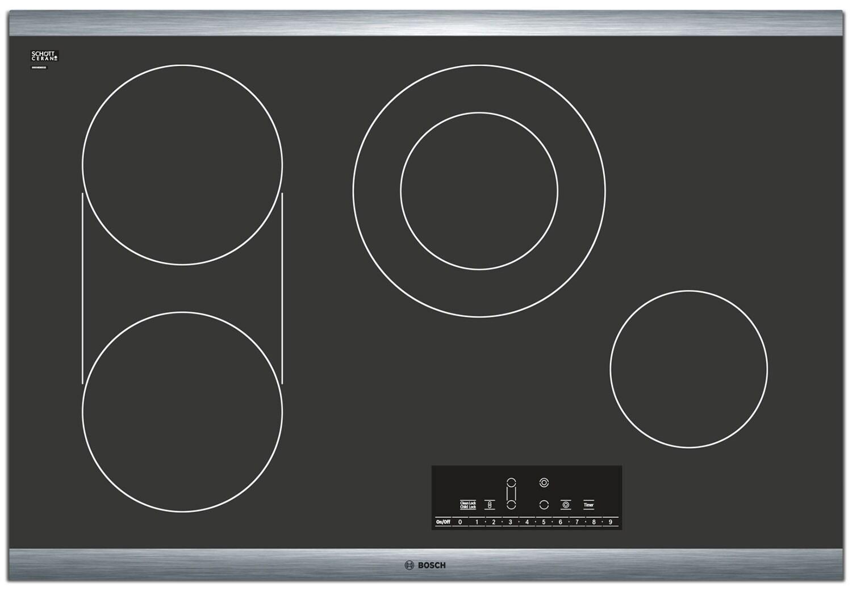 "Bosch 800 Series 30"" 4-Burner Electric Cooktop – NET8066SU"
