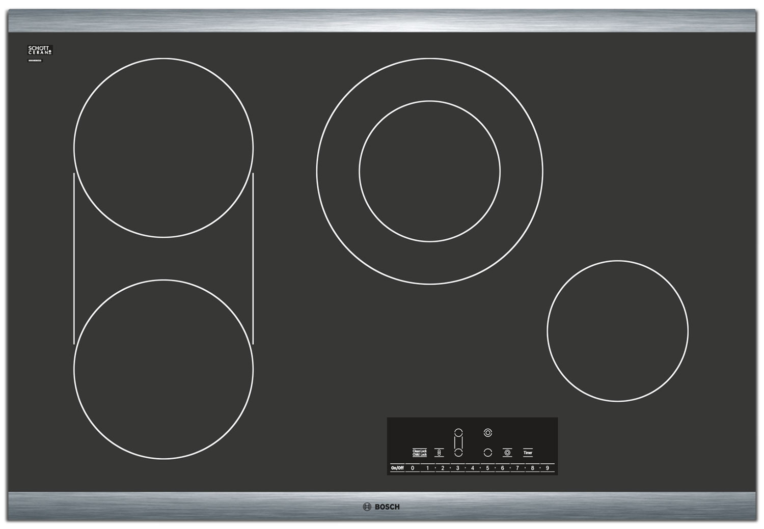 """Cooking Products - Bosch 800 Series 30"""" 4-Burner Electric Cooktop – NET8066SU"""