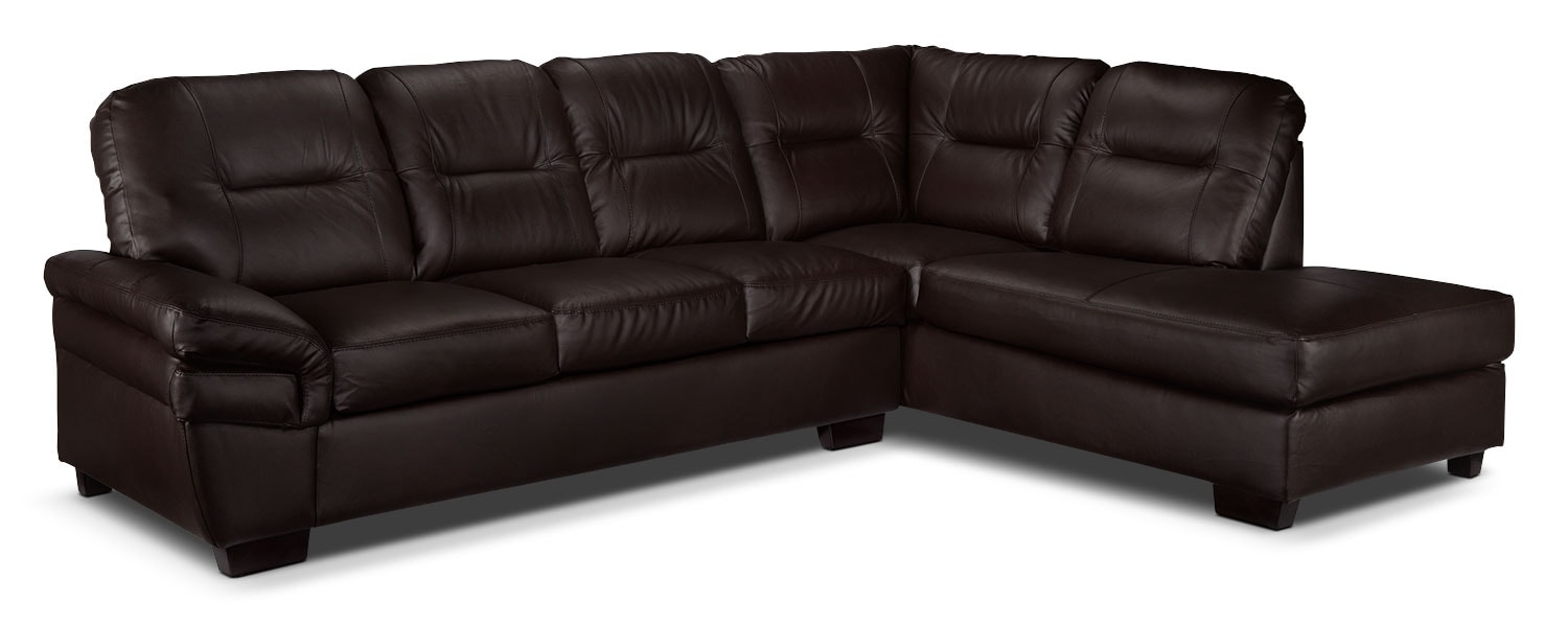 Harper 2-Piece Right-Facing Sectional - Dark Chocolate