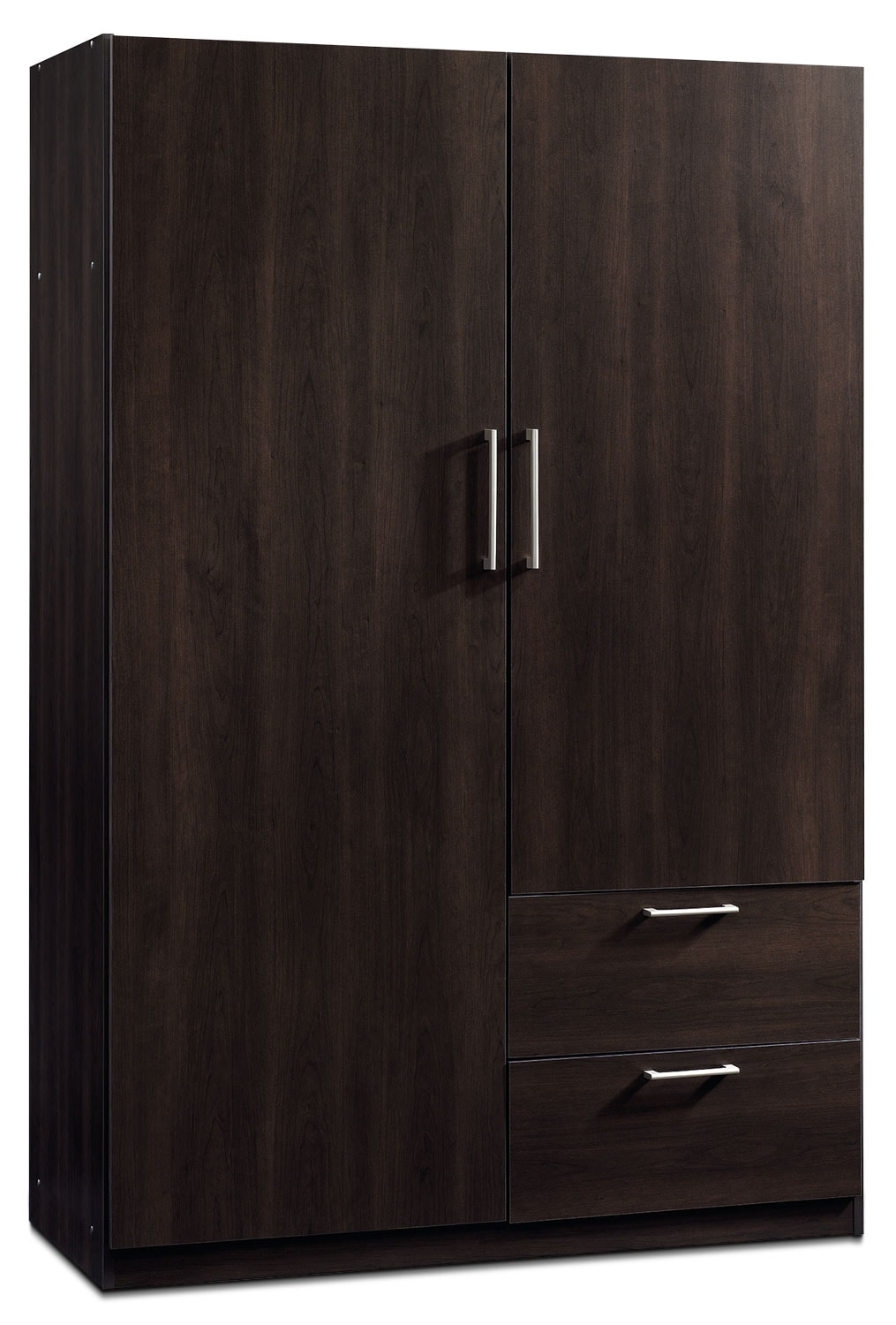 "Accent and Occasional Furniture - Beginnings 47"" Wardrobe Storage Cabinet – Cinnamon Cherry"