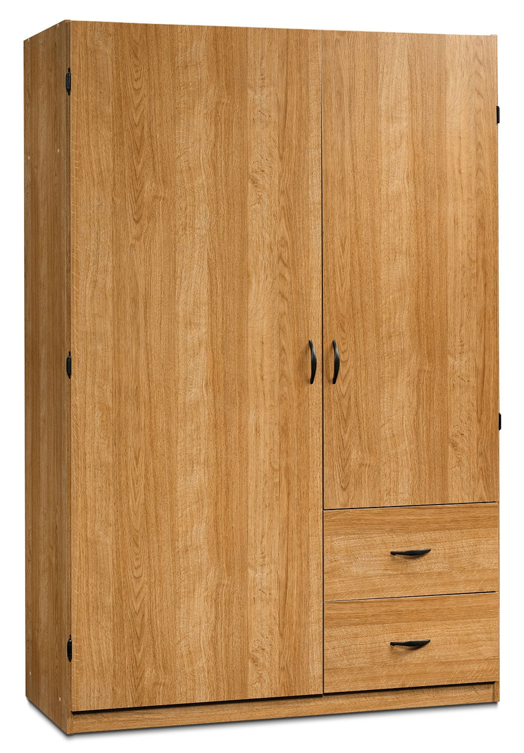 """Accent and Occasional Furniture - Beginnings 47"""" Wardrobe Storage Cabinet – Highland Oak"""