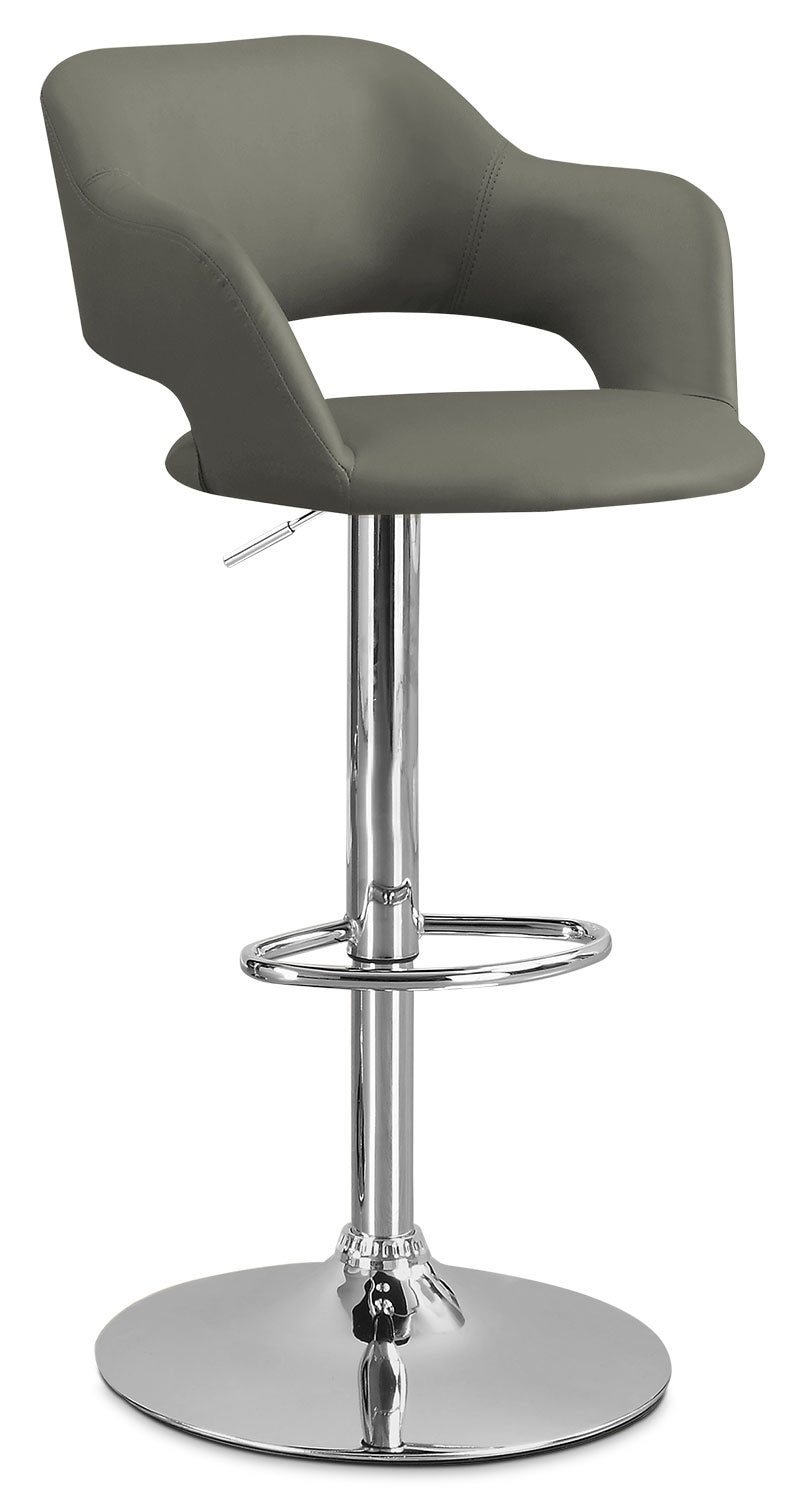 Dining Room Furniture - Monarch Hydraulic Contemporary Bar Stool – Grey