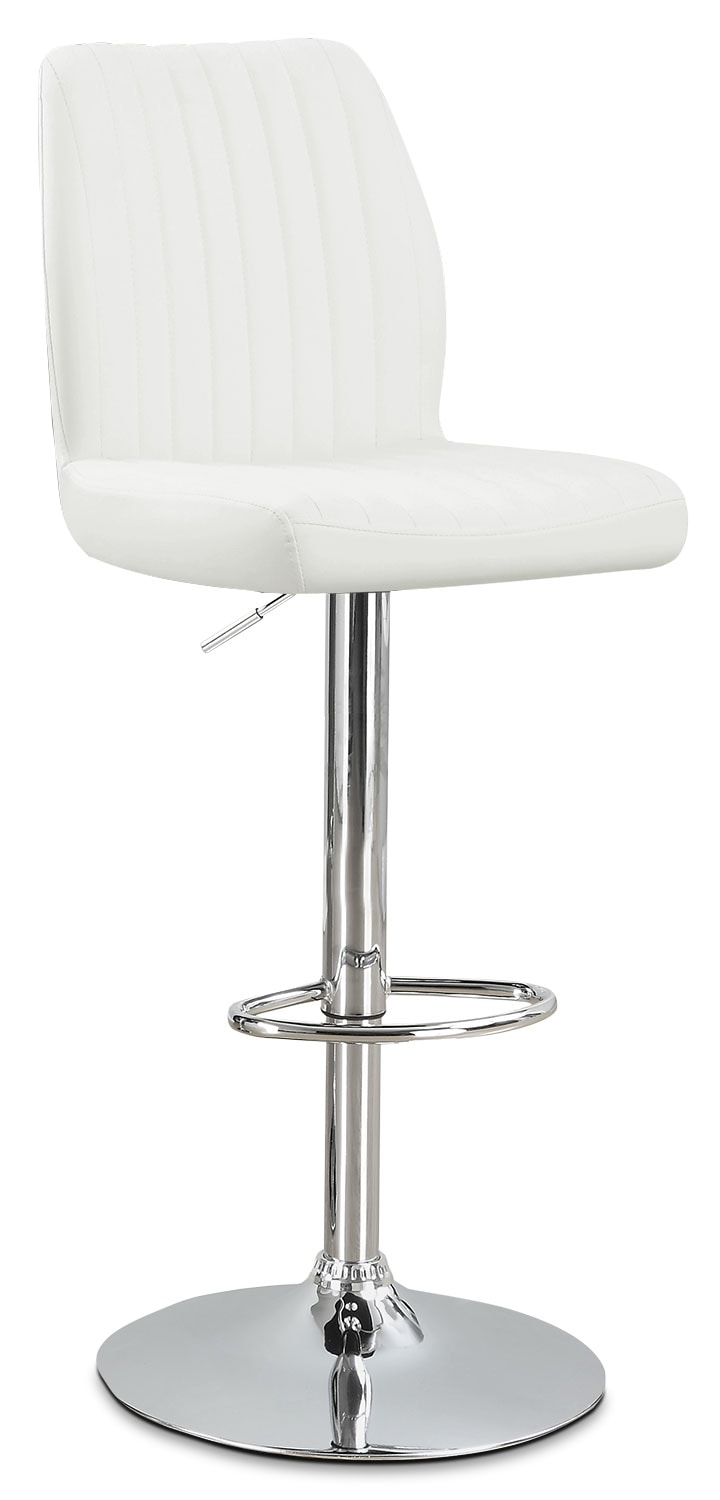 Monarch Adjustable Bar Stool – White
