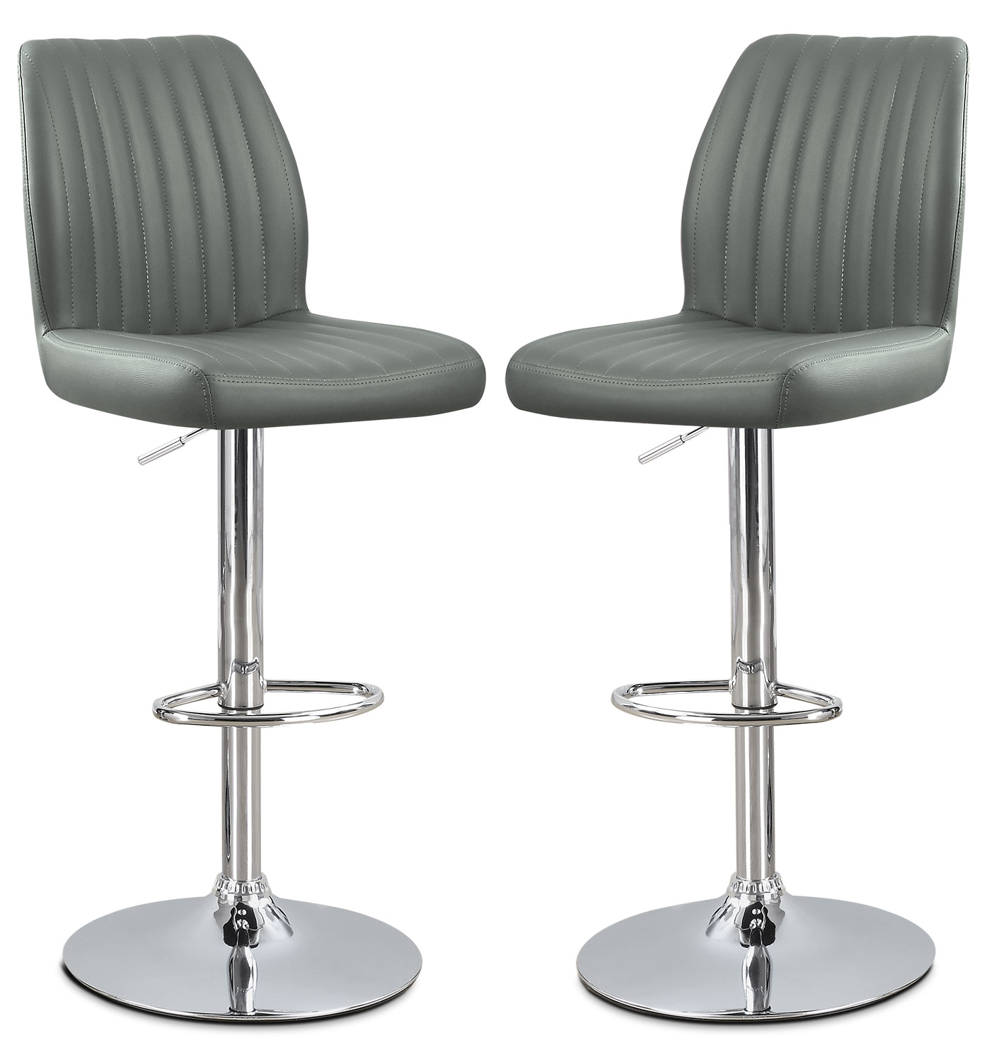 Dining Room Furniture - Monarch Adjustable Bar Stool, Set of 2 – Grey