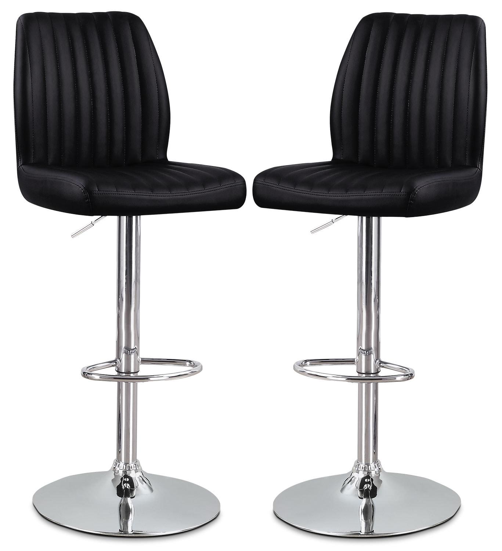 Dining Room Furniture - Monarch Adjustable Bar Stool, Set of 2 – Black