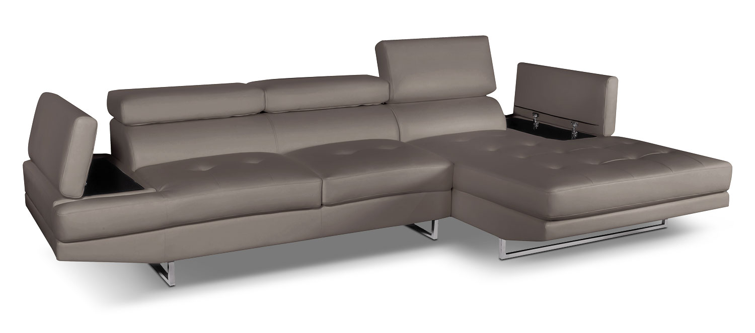 Living Room Furniture - Zamora 2-Piece Sectional - Mineral