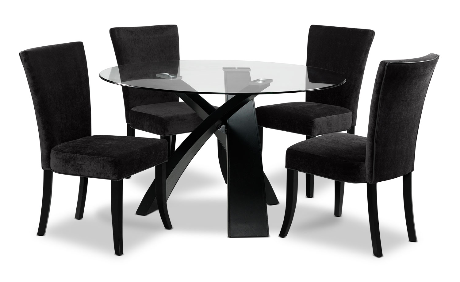 Casual Dining Room Furniture - Astro 5-Piece Dinette Set - Charcoal