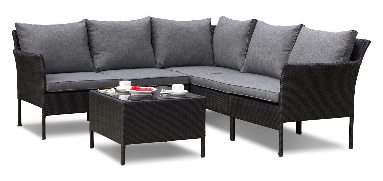 Outdoor Furniture - Gavle 6-Piece Corner Conversation Package