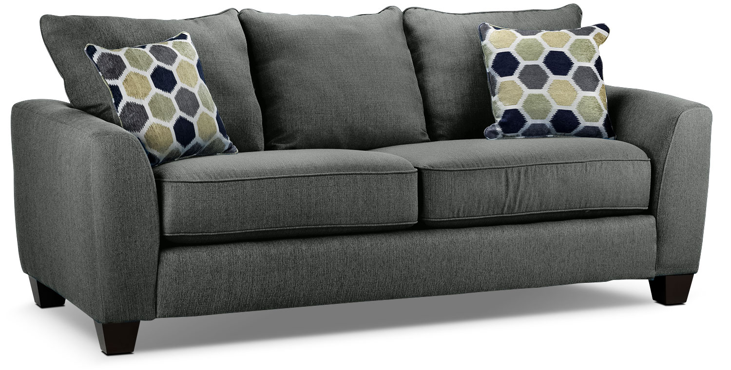 Living Room Furniture - Heritage Sofa - Grey