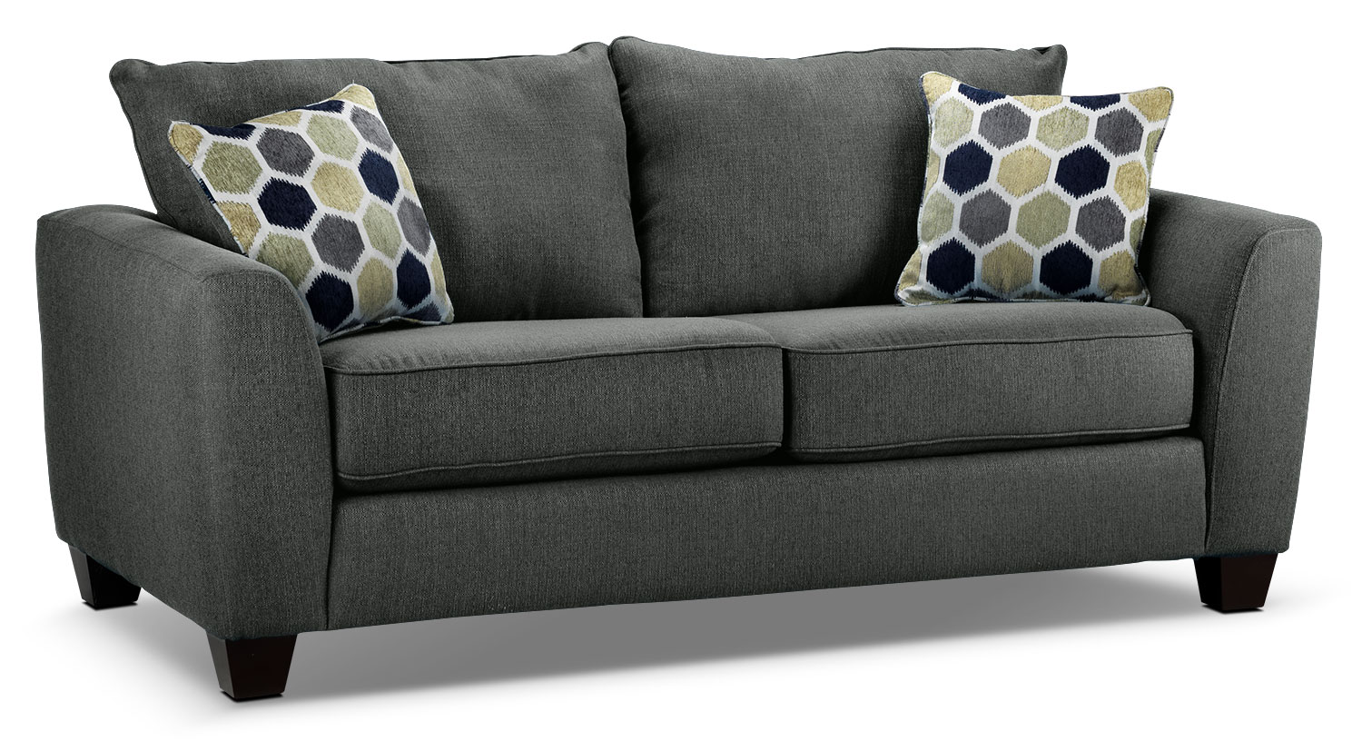 Living Room Furniture - Heritage Loveseat - Grey