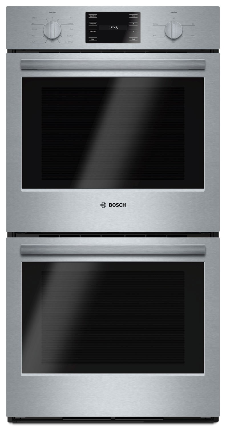 bosch 500 series 7 8 cu ft double wall oven hbn5651uc the brick. Black Bedroom Furniture Sets. Home Design Ideas