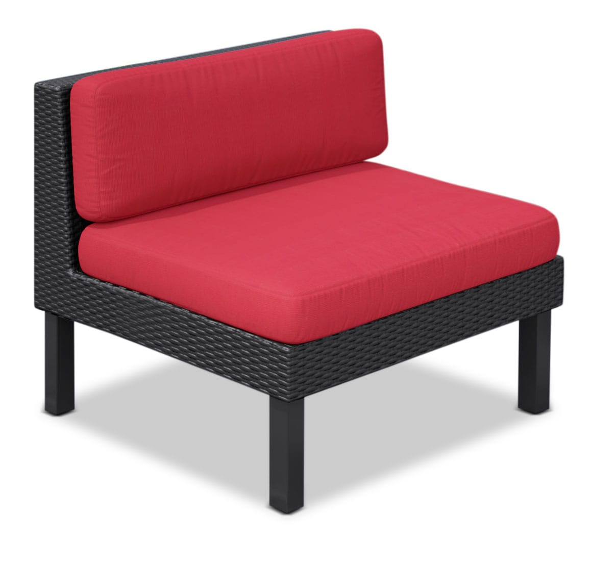fauteuil sans accoudoir oakland pour la terrasse rouge brick. Black Bedroom Furniture Sets. Home Design Ideas