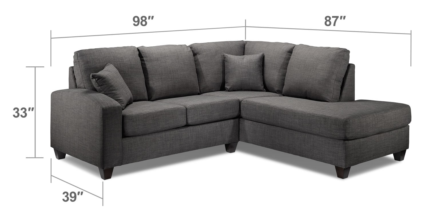 Living Room Furniture - Eisner 2-Piece Right-Facing Sectional