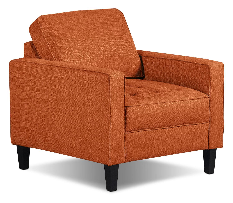 Paris Linen Look Fabric Chair Tangerine The Brick