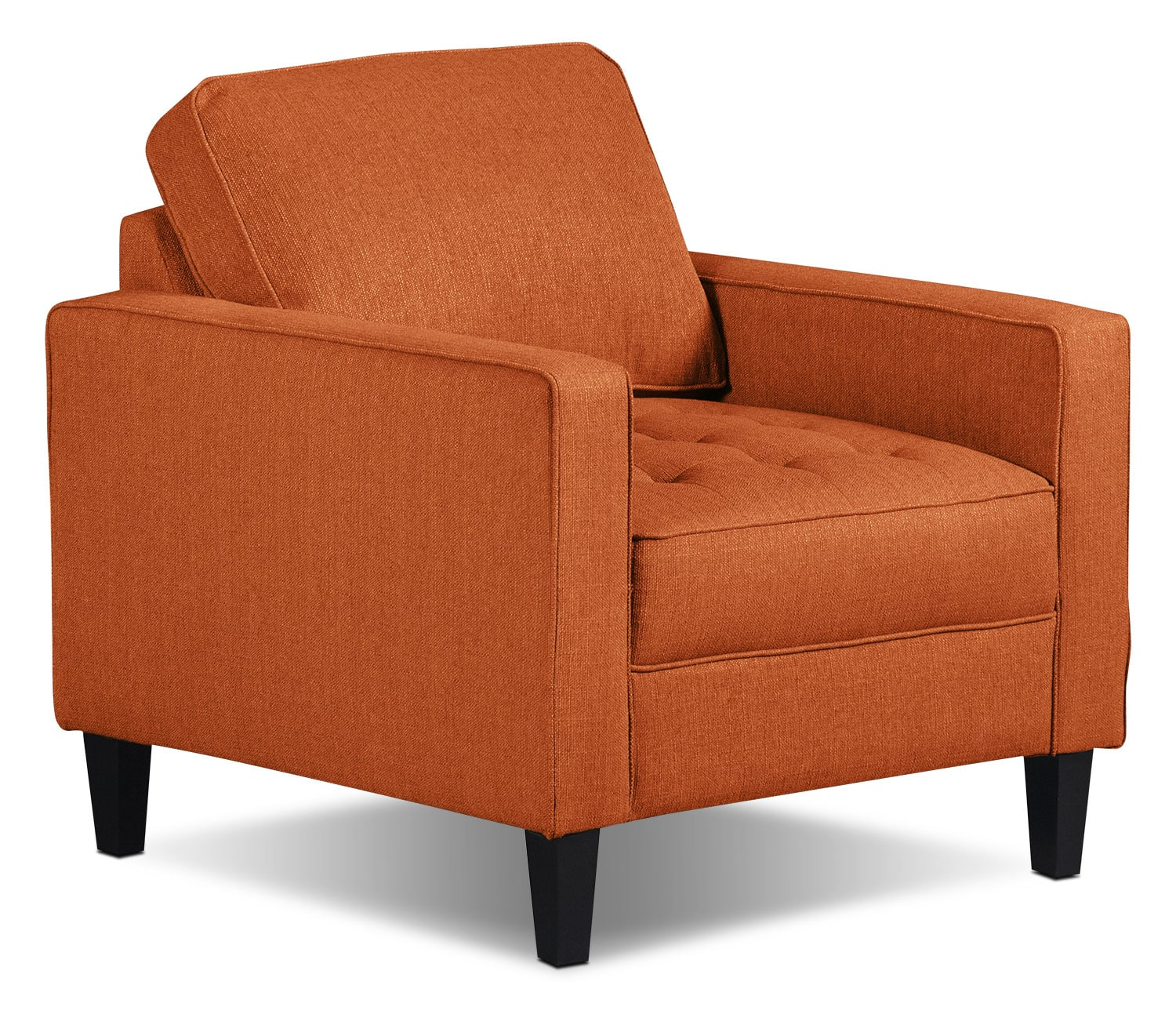 Paris Linen-Look Fabric Chair – Tangerine
