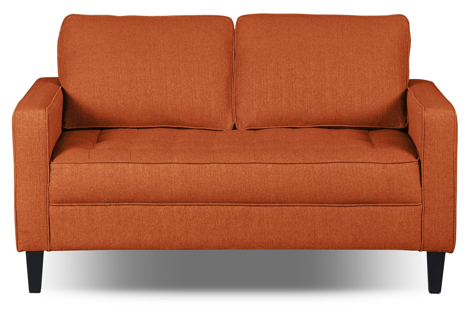 Paris Linen-Look Fabric Loveseat – Tangerine