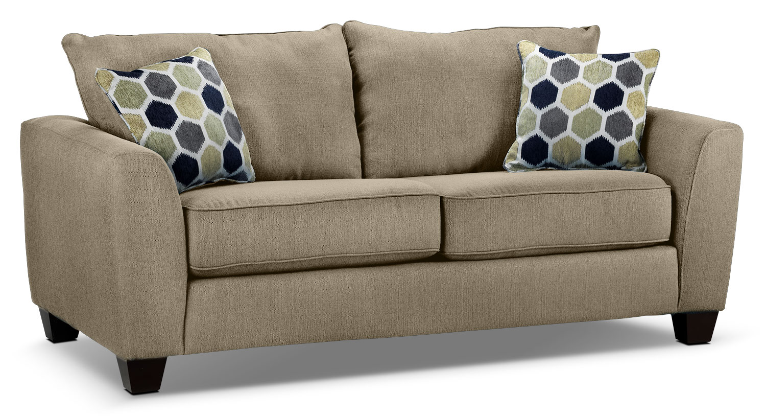 Living Room Furniture - Heritage Loveseat - Beige