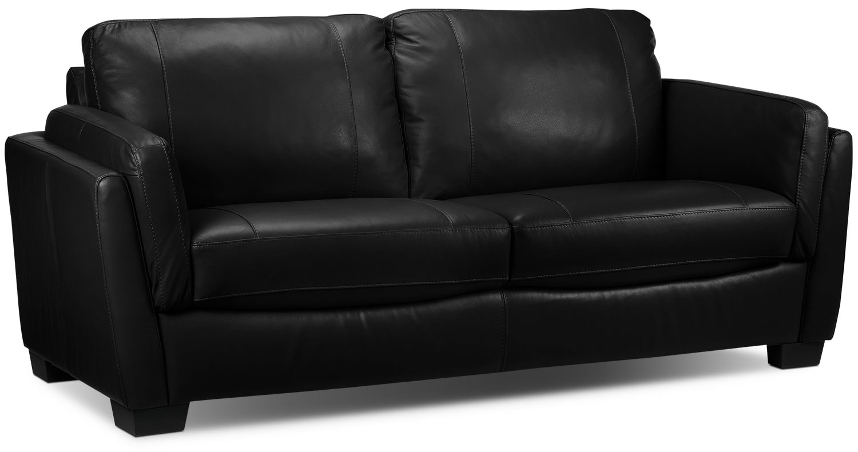 Living Room Furniture - Isadore Sofa - Black
