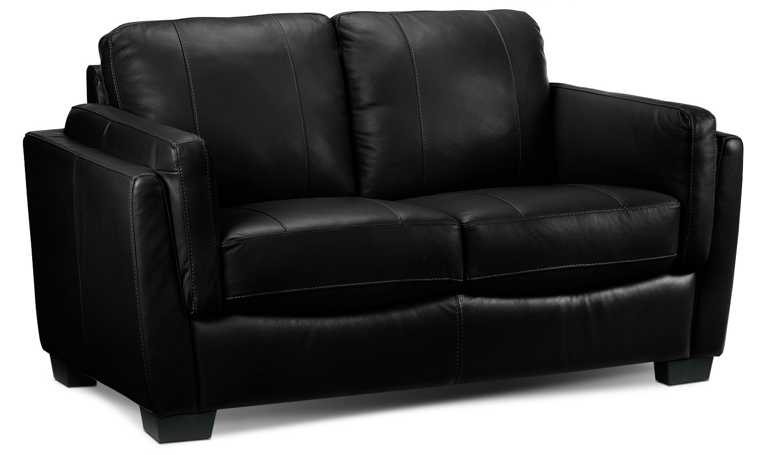 Living Room Furniture - Isadore Loveseat - Black
