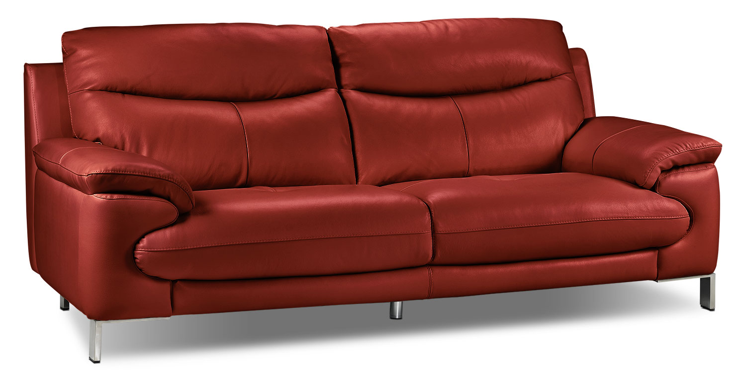 Living Room Furniture - Anika Sofa - Red