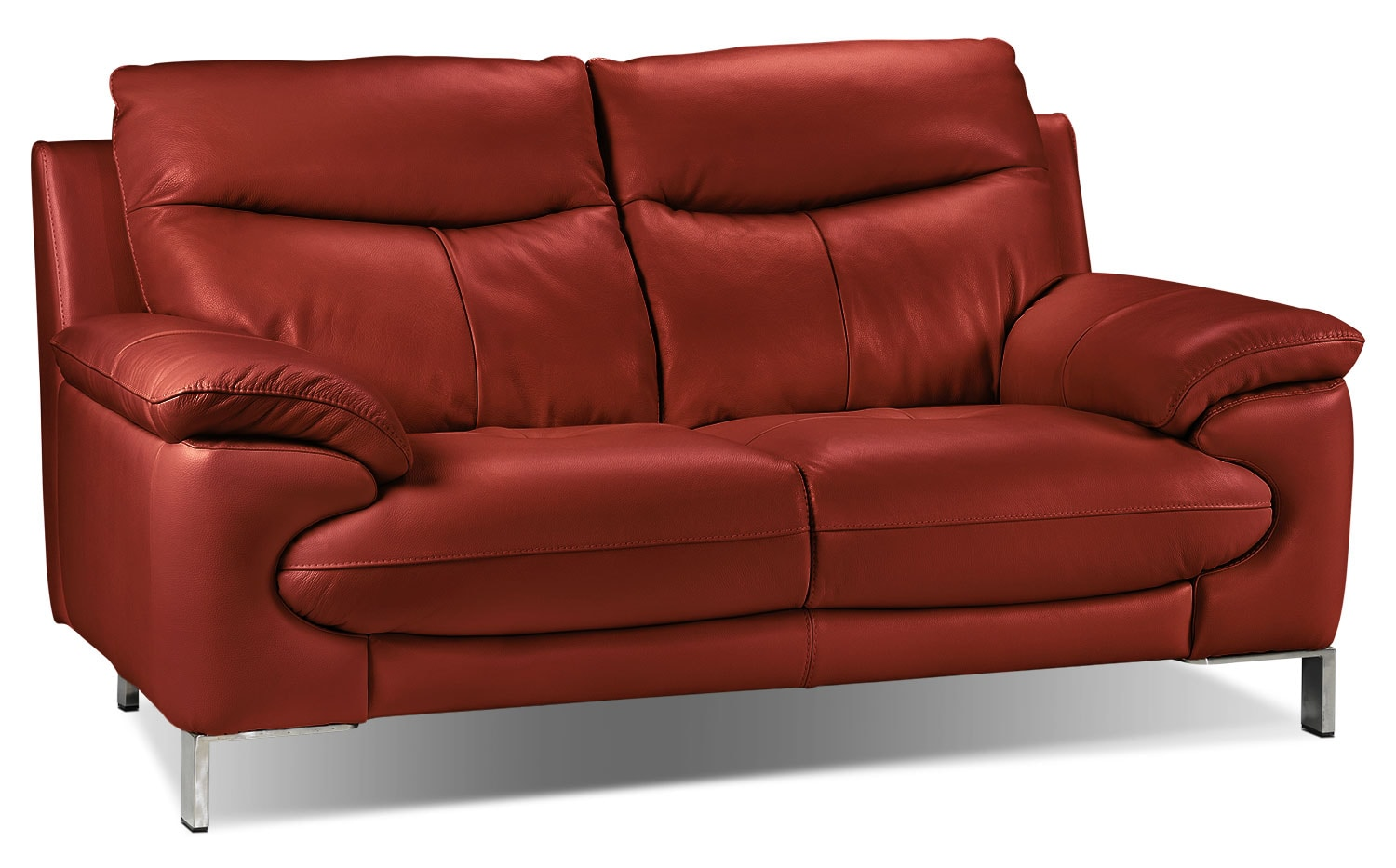 Living Room Furniture - Anika Loveseat - Red