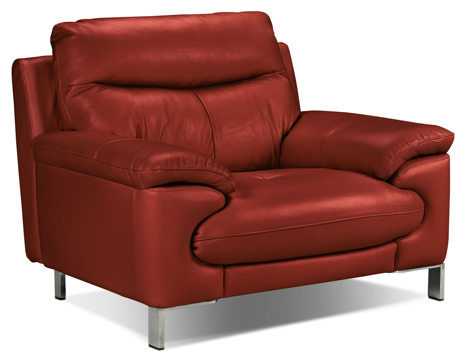 Living Room Furniture - Anika Chair - Red