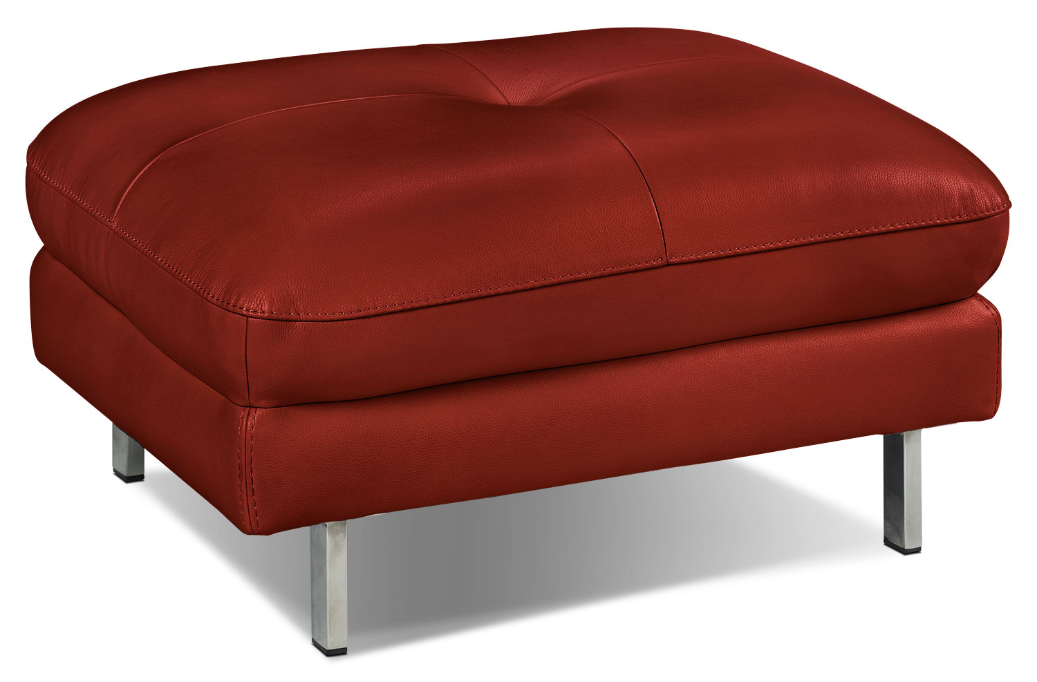 Living Room Furniture - Anika Ottoman - Red