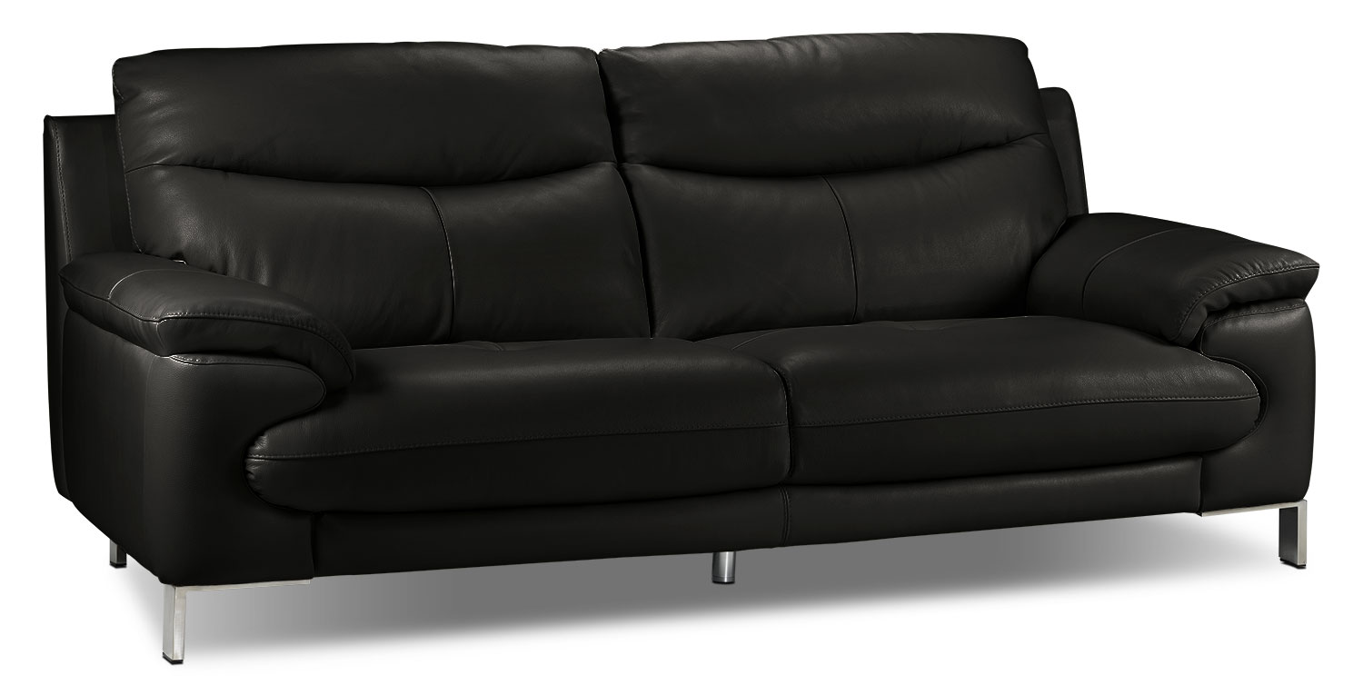 Living Room Furniture - Anika Sofa - Black