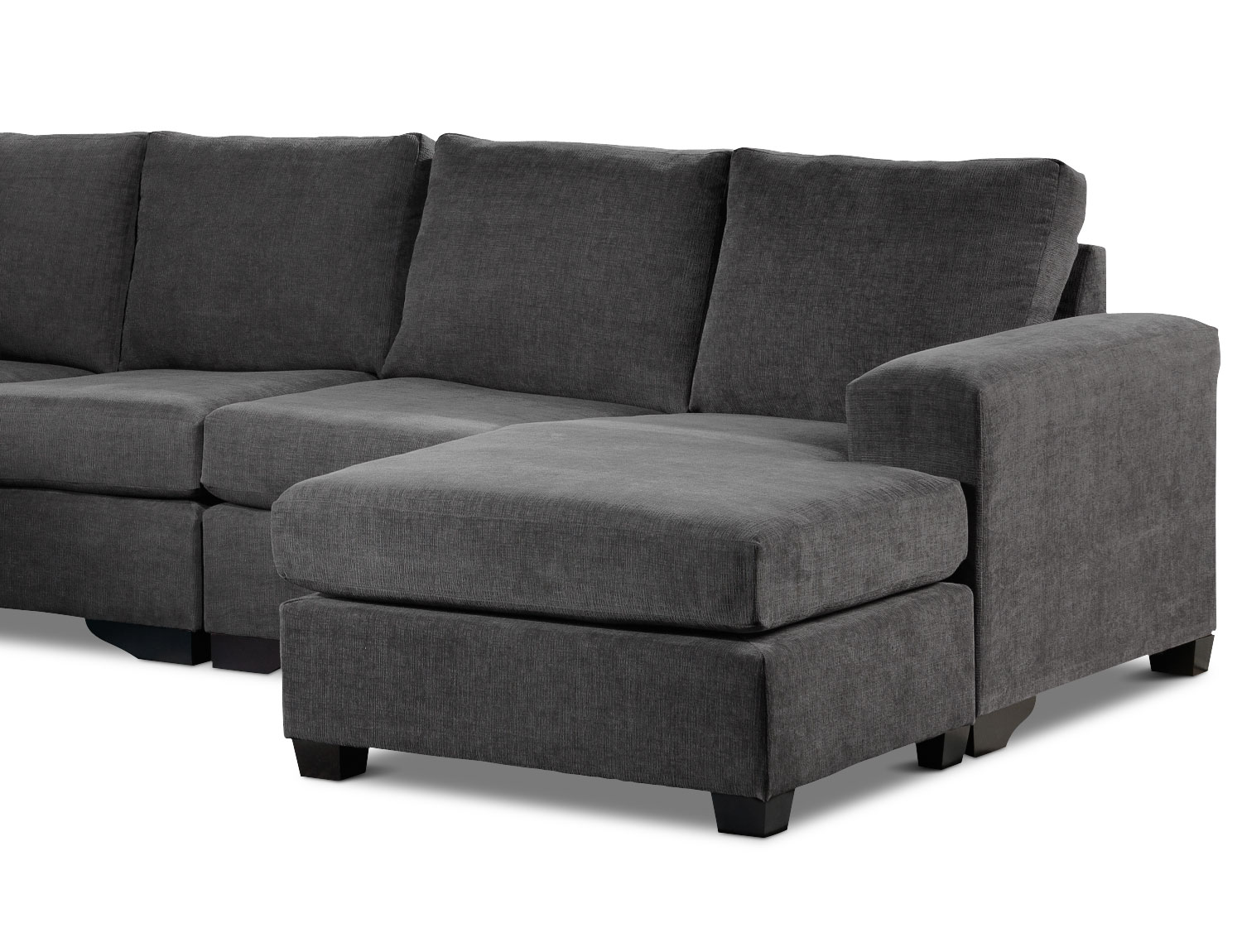 Leons Furniture Kitchener Danielle 3 Piece Sectional With Right Facing Corner Wedge Grey